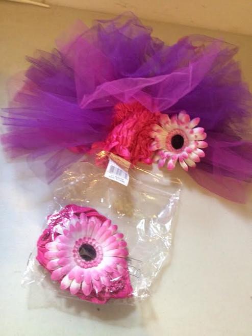 ✅Purple/Pink Flower Power Infant Costume 6-9months
