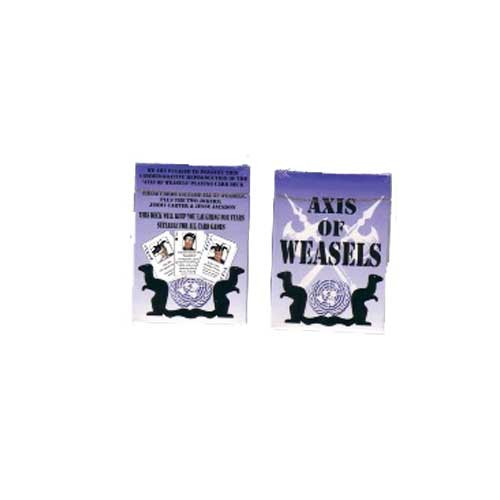 Axis Of Weasels Poker Playing Cards