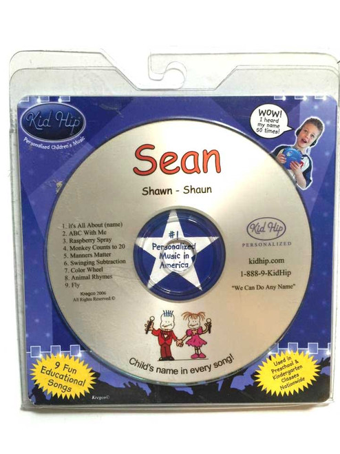 ✅KID HIP Personalized Name (Sean) CD- Hear Your Child's Name 50x In The Music