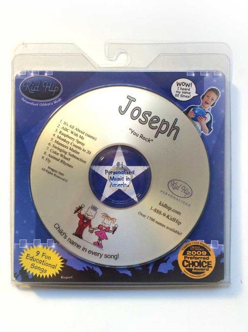 ✅KID HIP Personalized Name (Joseph) CD- Hear Your Child's Name 50x In The Music