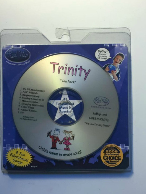 ✅KID HIP Personalized Name (Trinity) CD- Hear Your Child's Name 50x In The Music