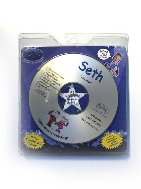 ✅KID HIP Personalized Name (Seth) CD- Hear Your Child's Name 50x In The Music