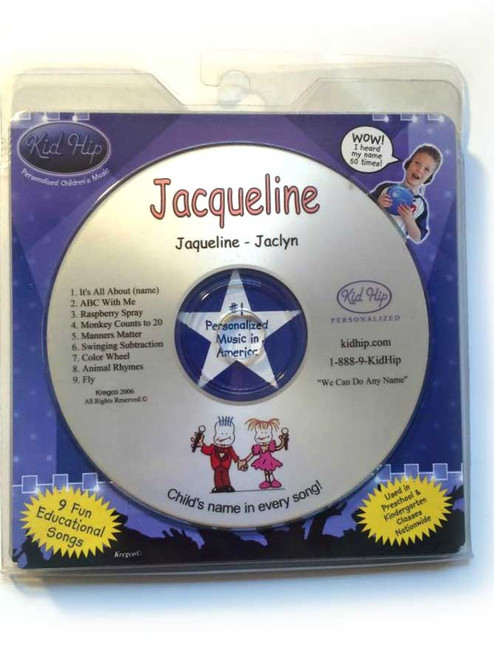 ✅KID HIP Personalized Name (Jacqueline) CD- Hear Your Child's Name 50x