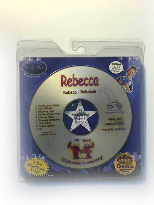 ✅KID HIP Personalized Name (Rebecca) CD- Hear Your Child's Name 50x In The Music