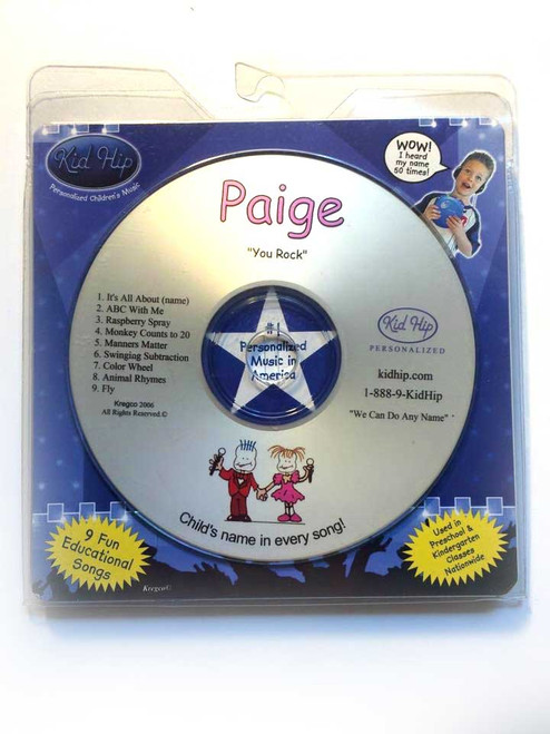 ✅KID HIP Personalized Name (Paige) CD- Hear Your Child's Name 50x In The Music