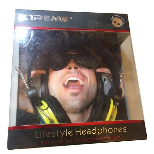 xTreme Yellow Lifestyle Headphones for for ipod, for iphone,for ipad,smarphones,
