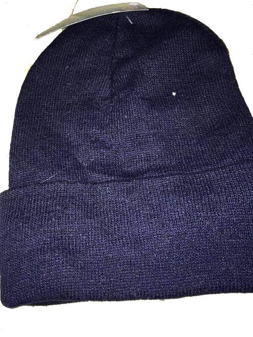 ✅ Ladies/Men Unisex Beanie Thermal Fleece Liner with Cuff Blue