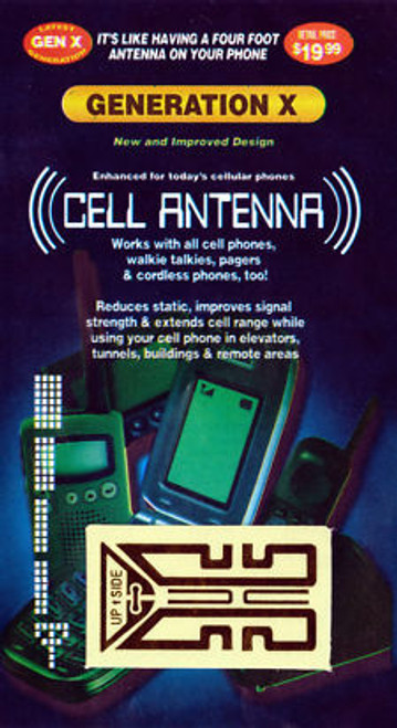 Cell Phone Antenna Booster for iPhone, Android and ALL Brands, Models and Carriers