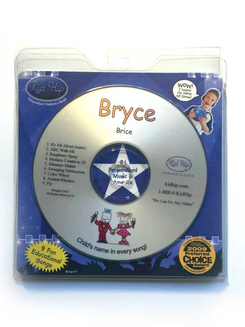 ✅KID HIP Personalized Name (Bryce) CD- Hear Your Child's Name 50x In The Music