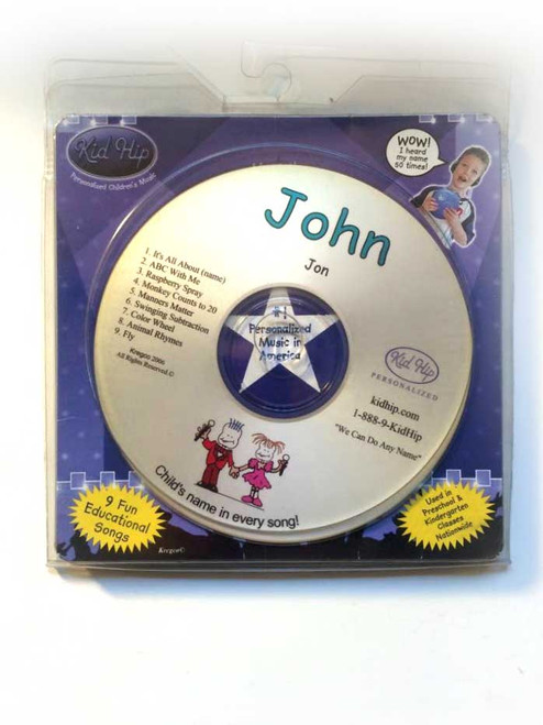 ✅ KID HIP Personalized Name (John) CD- Hear Your Child's Name 50x In The Music