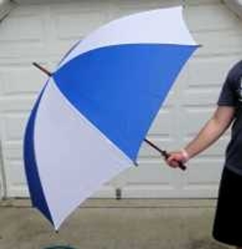 Gigantic 60'' Wooden Shaft Golf Umbrellas (you won't be a human lightening rod w