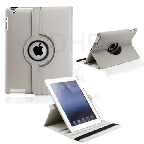 Delton Swivel Folio Case for for ipad2/new for ipad GRAY