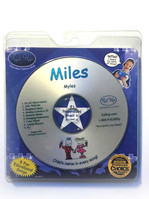 ✅ KID HIP Personalized Name (Miles) CD- Hear Your Child's Name 50x In The Music