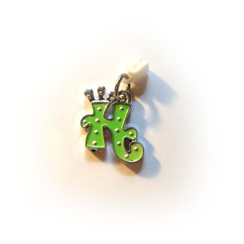 ✅ Pop Girl Ear Bud Charm: Letter H