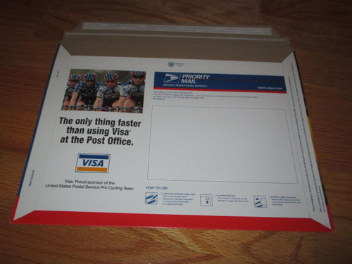 2x LANCE ARMSTRONG 2000 Tour de France USPS Priority Mail Envelope (Mint Conditi