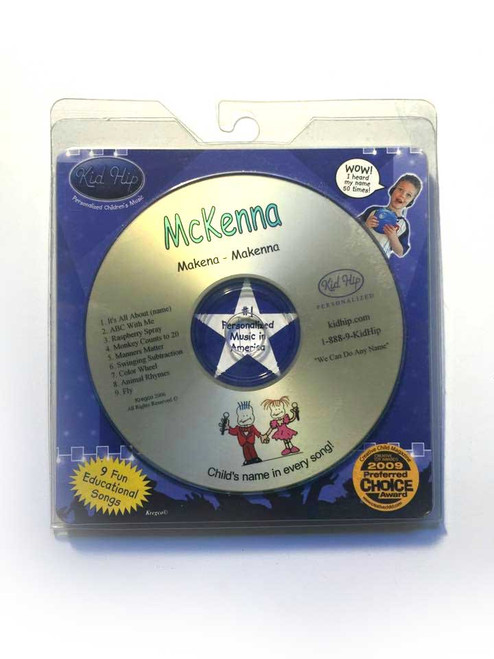 ✅KID HIP Personalized Name (Mckenna) CD- Hear Your Child's Name 50x In The Music