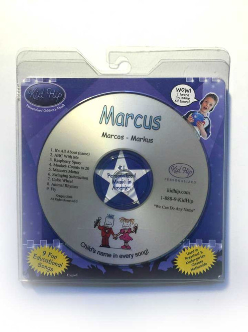 ✅KID HIP Personalized Name (Marcus) CD- Hear Your Child's Name 50x In The Music