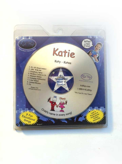 ✅ KID HIP Personalized Name (Katie) CD- Hear Your Child's Name 50x In The Music