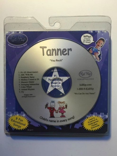 KID HIP Personalized Name (Tanner) CD- Hear Your Child's Name 50x In The Music