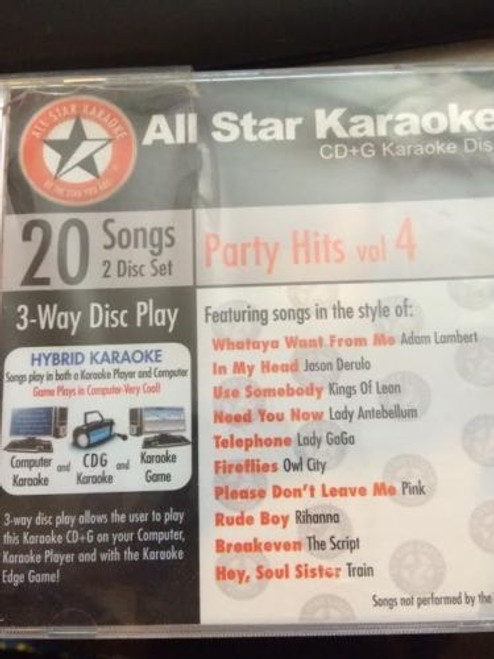 All Star Karaoke Party Hits 4 Cd