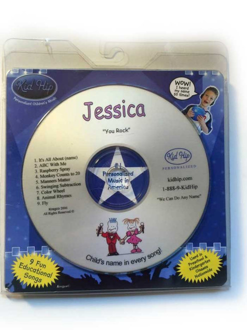 ✅KID HIP Personalized Name (Jessica) CD- Hear Your Child's Name 50x In The Music