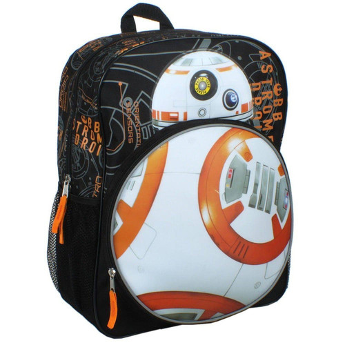 ✅ Star Wars Episode VII New Droid BB8 16 inch Backpack - FREE WORLDWIDE SHIPPING