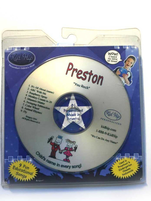 ✅KID HIP Personalized Name (Preston) CD- Hear Your Child's Name 50x In The Music