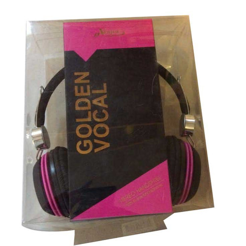 ✅eVogue Golden Vocal Headphones PINK