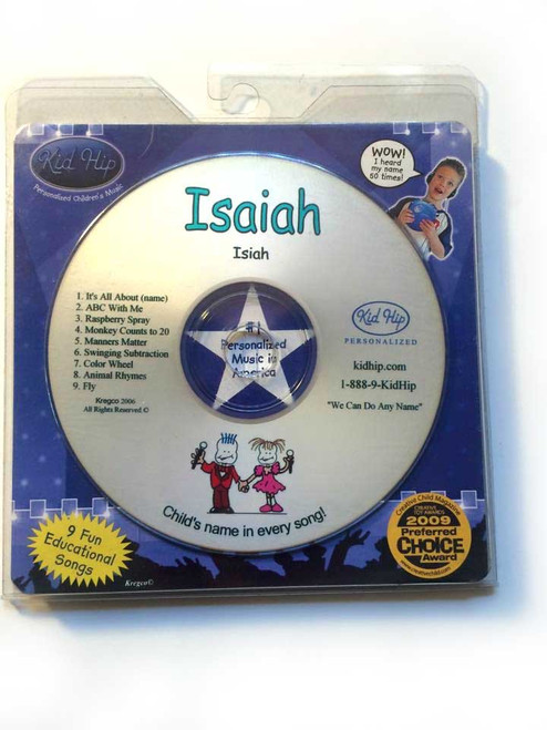 KID HIP Personalized Name (Isaiah) CD- Hear Your Child's Name 50x In The Music