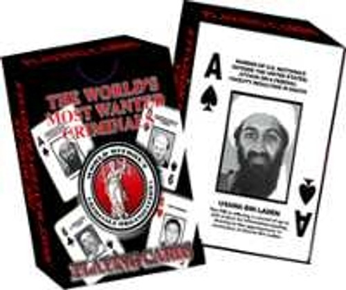 Osama Bin Laden FBI Most Wanted Super Rare Playing Cards