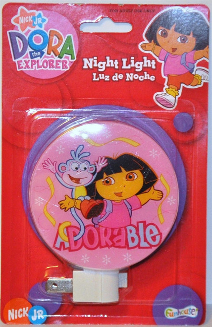 Nickelodeon Nick Jr Dora the Explorer Adorable W/ Boots Night Lights