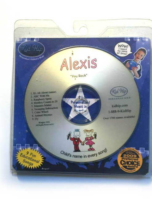 KID HIP Personalized Name (Alexis) CD- Hear Your Child's Name 50x In The Music