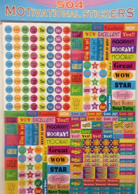 504-pk  TEACHERS' MOTIVATIONAL STICKERS