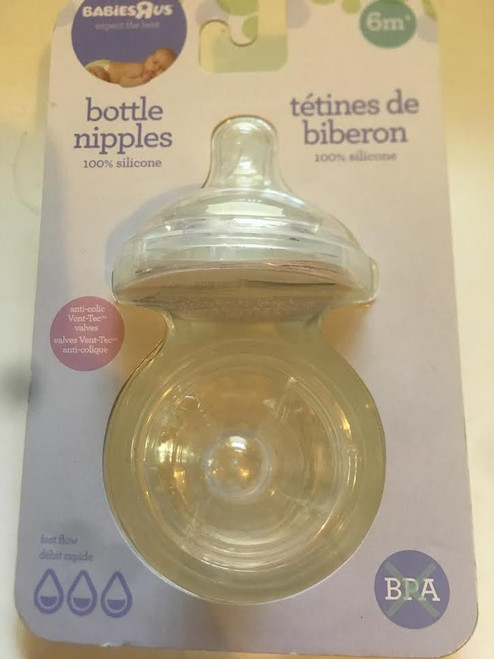 Babies R Us 100% Silicone Bottle Nipples FAST FLOW