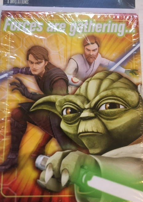 ✅Star Wars Invitaions (8 Pack)