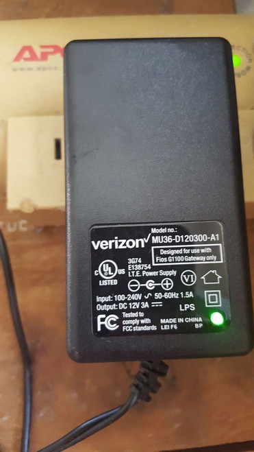 Verizon MU36-D120300-A1 12v Adapter G1100 Gateway