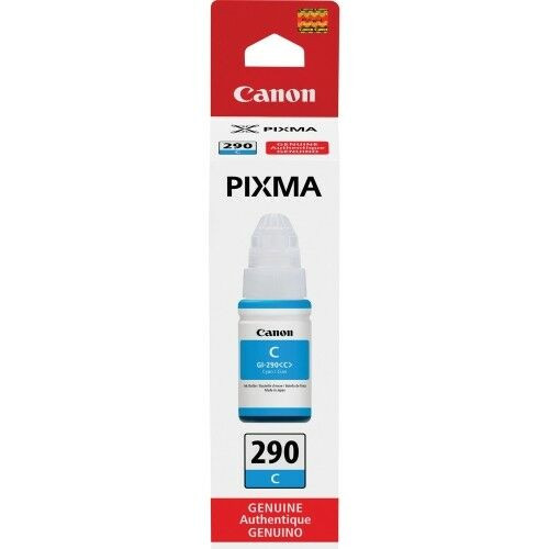 Genuine Canon PIXMA GI-290 Ink Bottle- Cyan - in Sealed Retail Box - Free Ship!