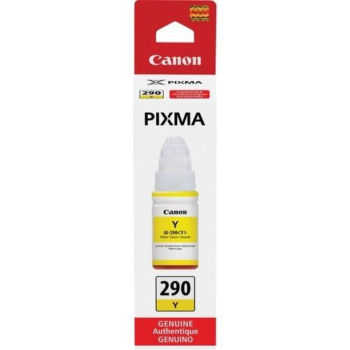 Genuine Canon PIXMA GI-290 Ink Bottle- Yellow- in Sealed Retail Box - Free Ship!