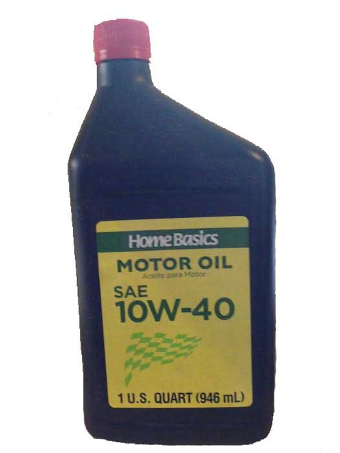 2 Quarts Home Basics Motor Oil Sae 10W -40