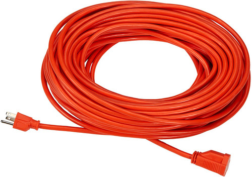 Heavy Duty Indoor/Outdoor UL Listed Extension Cord 15ft -Orange