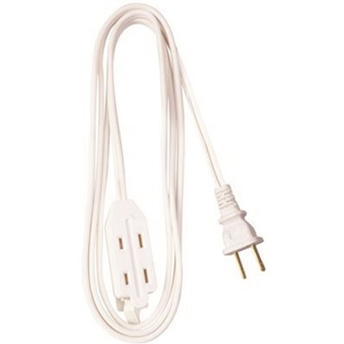 25ft White HouseHold Extension Cord Power Cord w/ 3 Outlets