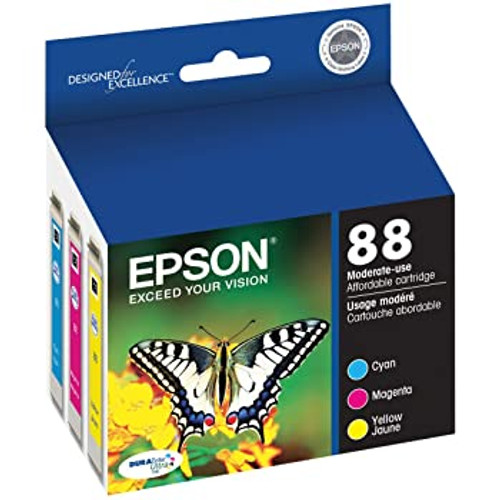 3 Pack Epson 88 Ink CYAN, MAGENTA, YELLOW JAUNE