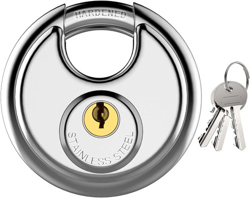 ✅5x Amazon Basics Round Discus Waterproof locks (you get FIVE of these)