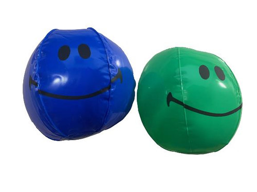 ✅​10x  Smiley Face Blow-Up Balls (7 green, 3 blue)    - Party Favors