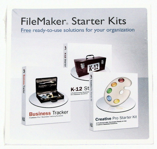 FileMaker Starter Kits for Mac and Windows -- database kits -- Sealed! New!