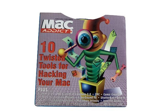 ✅Mac Addict Vintage CD January 1997:  10 Twisted Tools for Hacking Your Mac