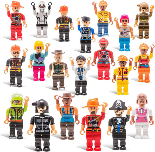 ✅20 Mini Toy Figure Toys -Set for Christmas Stocking Stuffers/Snap Together/Boys