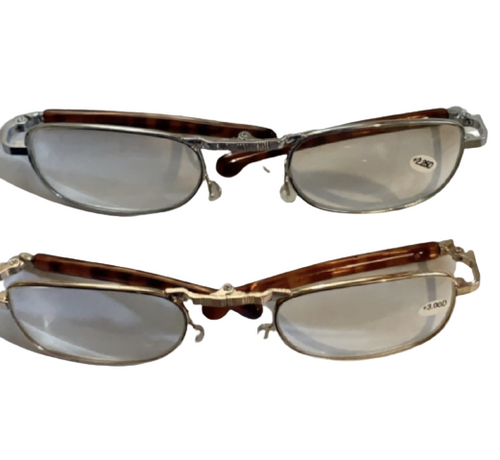 ✅ Rare Folding Deluxe Metal Reading Glasses/CHOOSE COLOR (Gold, Silver) STRENGTH