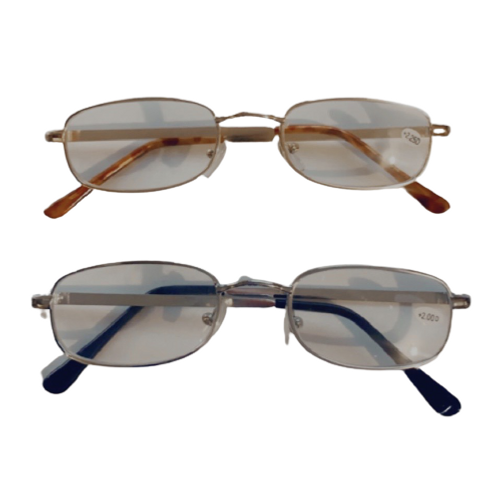 ✅ Compact Metal Reading Glasses Gold/Silver FREE S/H