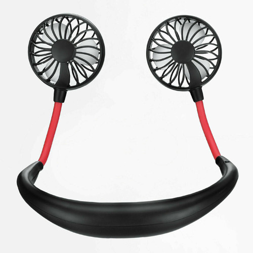 ✅ Portable USB Rechargeable Adjustible Hanging Neck Fan w/FREE Fitness Tracker!